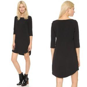 BB Dakota Devin Shift Crepe Black Minimalist Dress